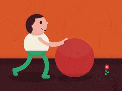 Boy And Ball illustration