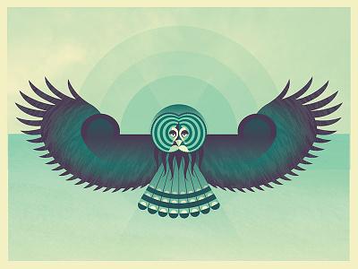 Great Gray Owl owl illustration geometric