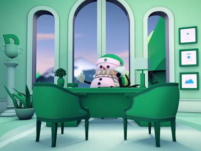 DiscProfile.com Seasons Greetings Still cinema4d animation 3d