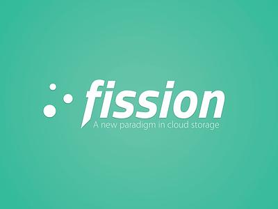 Fission Logo wallpaper logo nuclear electrons atom icon drive box dropbox storage cloud fission