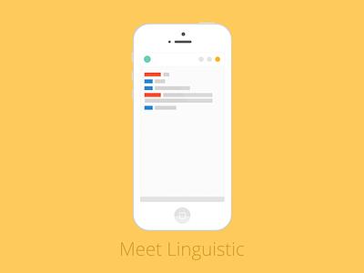 Linguistic Mobile iPhone Mockup flat mockup app mobile iphone linguistic exchange language
