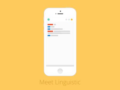 Linguistic Mobile iPhone Mockup