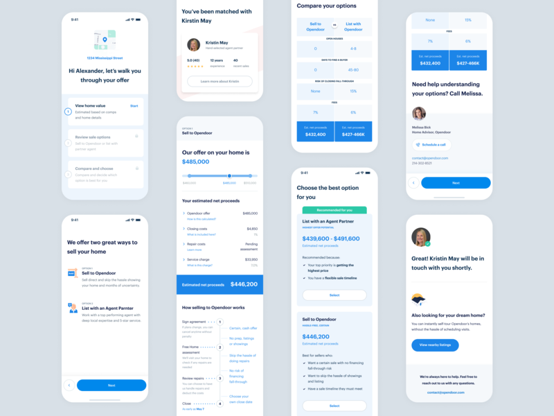 Multiple product offering mobile product map choice success table comparison options timeline range ux card ui