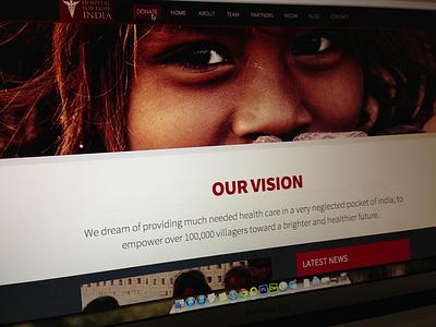 HospitalForHope website charity responsive minimal nonprofit
