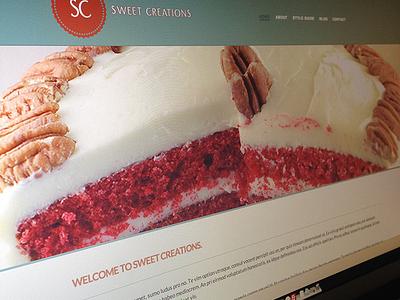 Sweet Creations website responsive web design wordpress