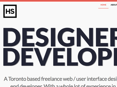 HasanSyed.com / Portfolio website responsive web design small wordpress clean portfolio minimal grey