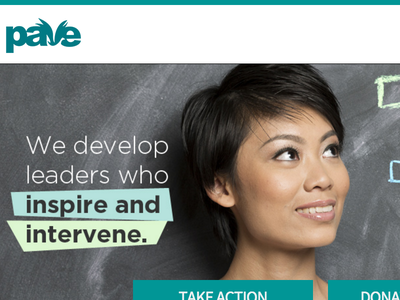 PAVE | Paving The Way ux ui minimal wordpress non profit nonprofit website