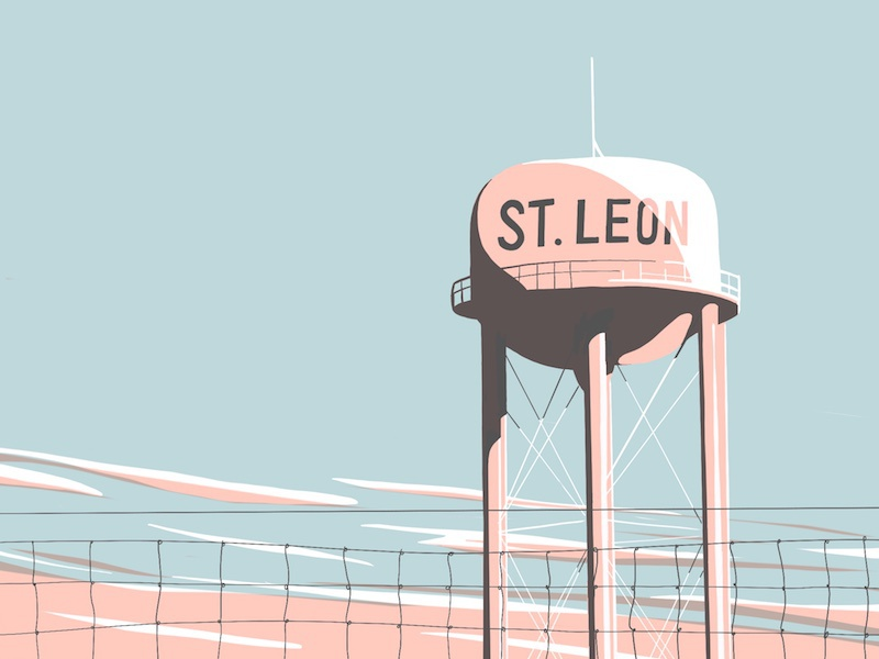 Water tower water tower apple pencil ipad pro illustration sketch