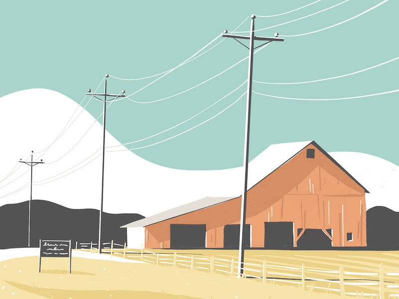 Indiana procreate ipad pro countryside indiana barn illustration