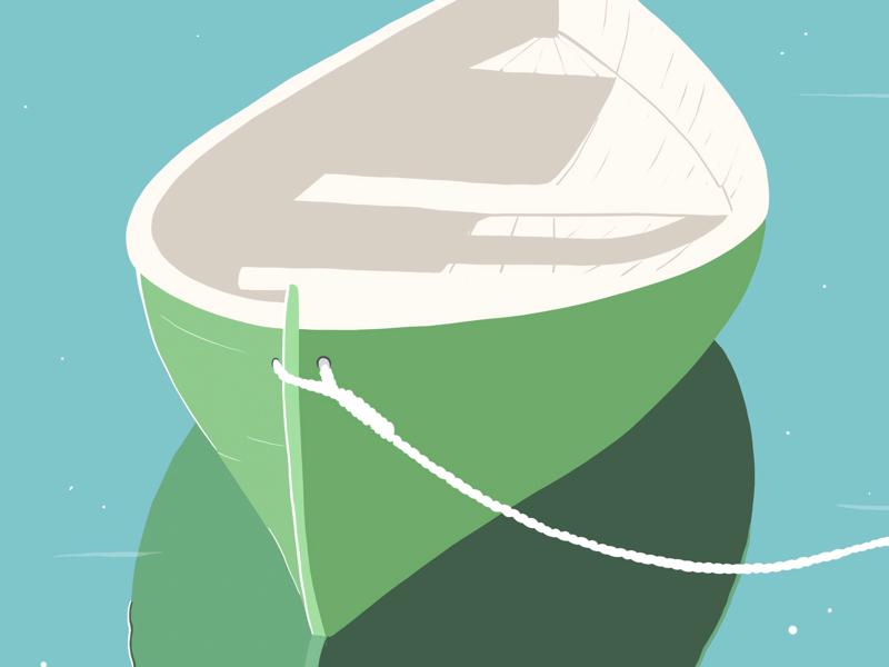 Boat on the Lake procreateclub illustrator illustration procreate lake boat