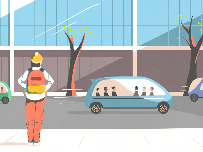 Autonomous Vehicles vector illustration future autonomous vehicles illustration