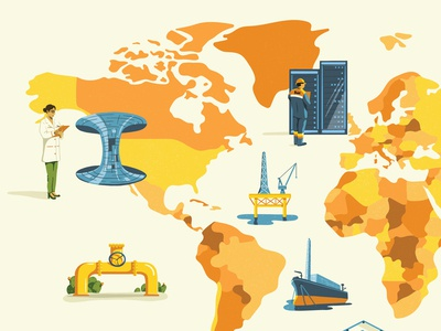 World Map for Eni x The Monocle Forecast