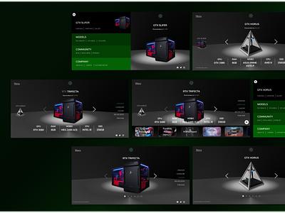 003 - PC Build logo company branding illustration web ui design