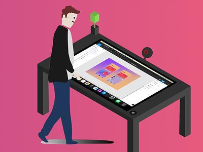 002 - Smart Desk (MacOs) c desktop computer future product ux vector apple ui design