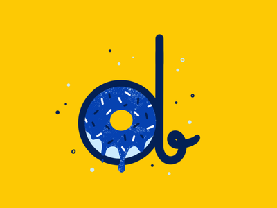 D. 🍩 font type letter handdrawn 36daysoftype donut yellow procreate doodles drawing adobe illustrator creativity creative adobe design illustration