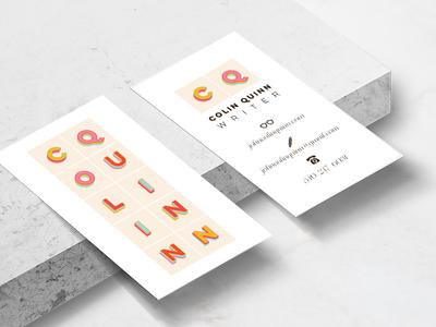 Colin Quinn Business Card