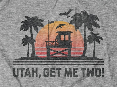 Utah, Get me two! Design for Buy Me Brunch gary busey keanu reeves point break apparel design shirt design tee design vectorart digital illustration thechive