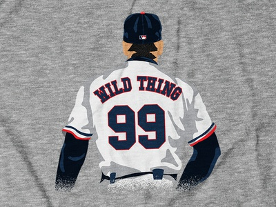 WILD THING 99 Design for theCHIVE shirt design apparel design tee design digital illustration movie baseball major league soccer charlie sheen wild thing