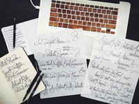 Hand Lettering for 'Secret Eats' Menu