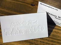 Noble Truth Tattoo - Letterpress Business Cards