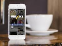 UNLOKT - iPhone App Mock-up