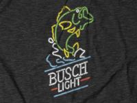 Busch Light Bass Neon Tee Design for theCHIVE