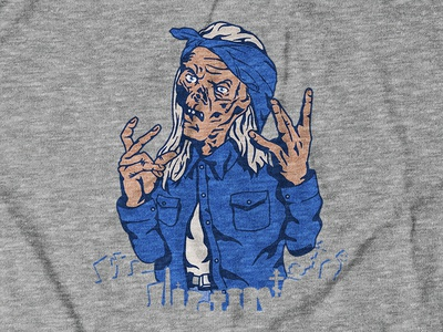 Tales from the Crip Design for theCHIVE's Halloween Collection halloween apparel design apparel illustraion digital illustration television tv show nostalgia tales from the crypt