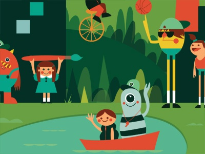 Camp coverdribbble