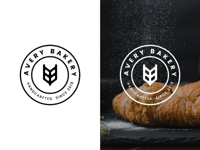 Avery Bakery Logo designgraphic illustrator branding icon minimal logodesign flat design logo