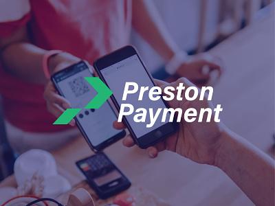 Preston Payment Logo app designgraphic minimalist logo minimal monogram logo design branding flat icon logo logodesign