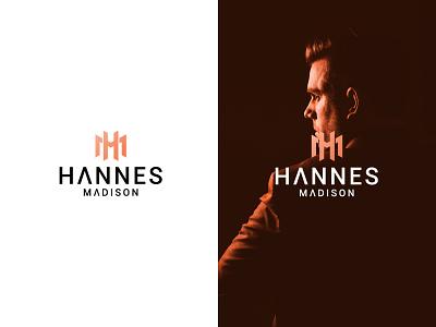 Hannes Madison Personal Logo lettermark minimalist logo monogram logo design branding icon flat minimal logodesign logo