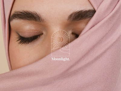 Moonlight Hijab Logo brand visualidentity fashion minimal logodesign logo flat icon branding design