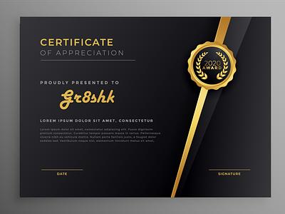 26827  Converted premium graphic design graphicdesign certificate certificate template certificate design