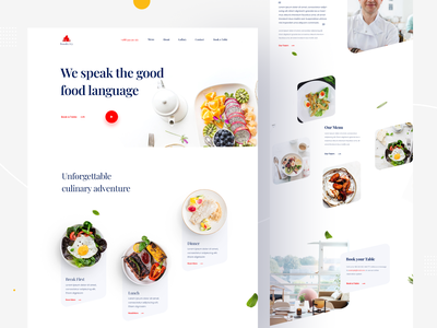 Foodcity Restaurant website uigeek redesign food app landing design clean product minimal interface web restaurant