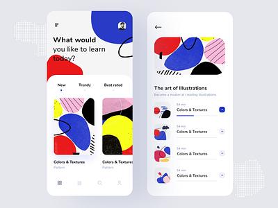 Course App uigeek student app learning app inspire ios interface illustration flat design course app app