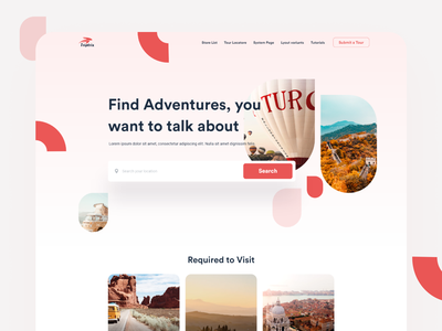 Travel Agency - Website Design nature traveling travel agency tourism travel tours booking storytelling social map website minimal design landing clean app interface web ux ui