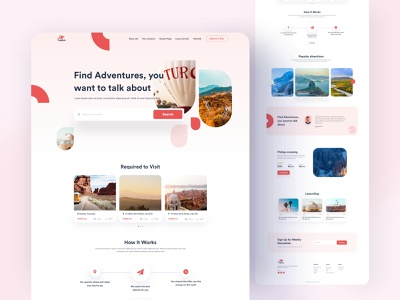 Travel Agency - Homepage 2020 trends travelling travel agency social nature map tour agency travel website minimal landing design app clean product interface web ux ui