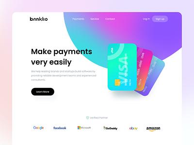 Banklio Card - Web Exploration finance app exploration uigeek bankilo gradients landing page wallet card cards ui banking financial website landing product clean interface web ux ui