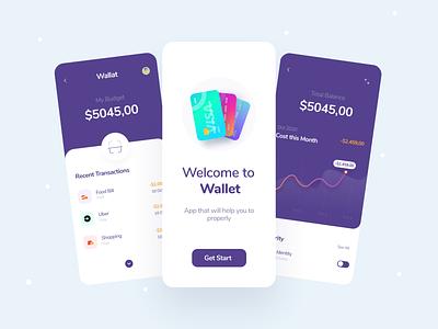 Financial App Exploring ui ux uigeek interfaces design app wallet financial app app clean product interface ui