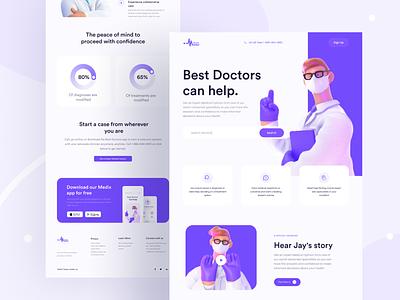 Medix Webdesign doctor doctor appointment clean web uigeek design landing product interface illustration minimal webdesign health doctors