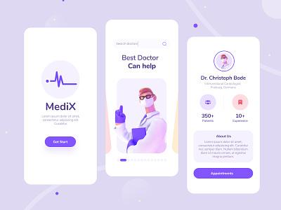 Medix App Design healthcare doctor app doctor appointment web app product minimal ux interface ui ios app health medical app