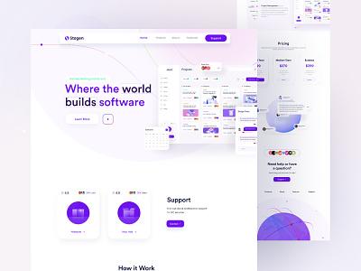 Stagen Webdesign Explore V1 landingpage trending page uigeek website landing app product interface web ux ui