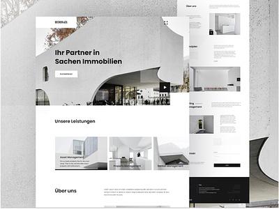 Real Estate Webdesign V1 trending website design branding app uigeek website landing minimal interface web ux ui