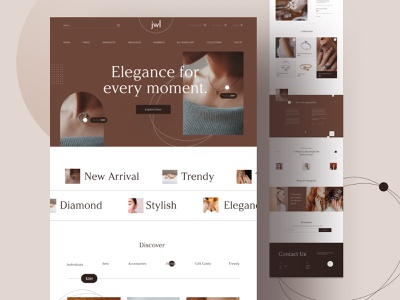 Jewellery Web design online-shop website ecommerce design jewellery shop jewellery fashion uiux minimal shop webdesign ecommerce shop ecommerce interface web