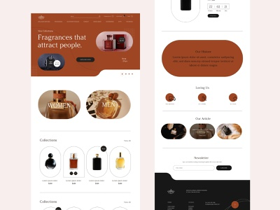 Perfume eCommerce webdesign home page web minimal product shop app webdesign shop design shop website design ecommerce shop perfume