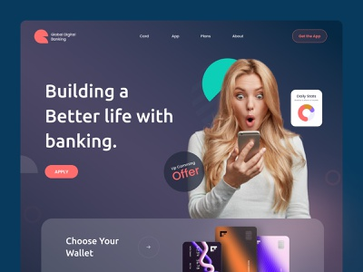 Financial Landing page Exploring minimal product interface web payment method payment app digital payment wallet crypto wallet banking card banking financial app financial finance