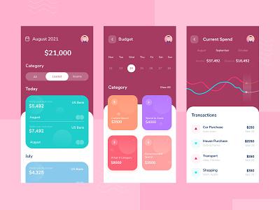 Financial App Exploring wallet app design wallet bankingapp banking finance app ux interface app finance