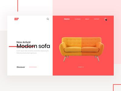 Furniture Homepage Exploration sofa shop product landing page home furniture e-commerce ecommerce colour color