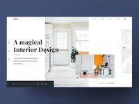 Minimal Interior Web Homepage