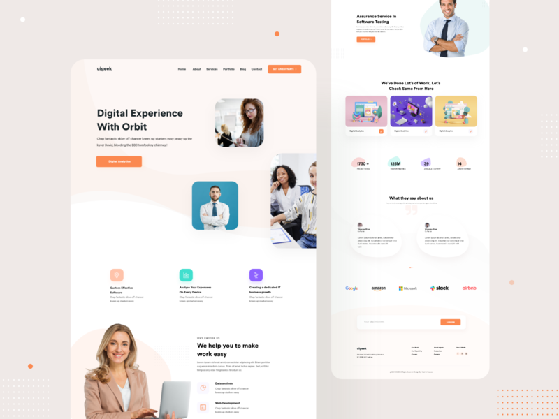 Agency Landing Page nazmul hassan visual art clean ui web ux ui landing page ui landing page design white clean design page branding product minimal interface uigeek website landingpage